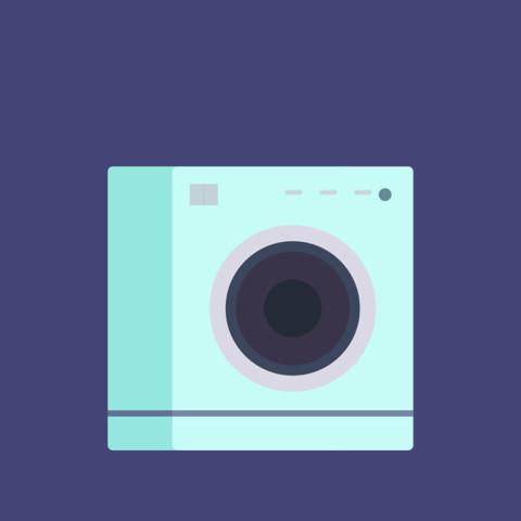 ドラム式洗濯機の振動
